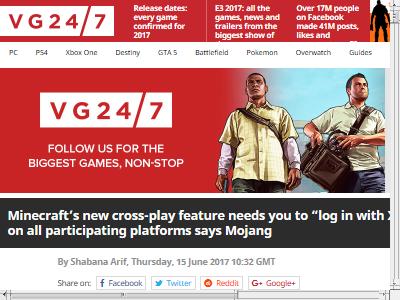 マインクラフト クロスプレイ XboxLive ログイン 必須に関連した画像-02