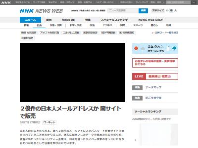 日本人 メールアドレス 2億件に関連した画像-02