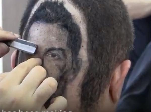 クリスティアーノ・ロナウド 凄い髪型 似顔絵 後頭部 理容室 髪型 似顔絵に関連した画像-04