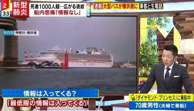 ミヤネ屋 クルーズ船 印象操作 生電話 対応 状況に関連した画像-03
