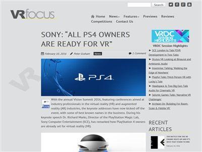 PS4 PSVR VR ソニー バーチャルリアリティに関連した画像-02