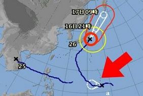 【悲報】早くも台風27号が日本の下で準備中!!!!!