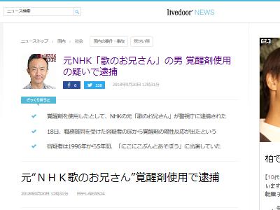 NHK 歌のお兄さん 沢田憲一 覚せい剤 逮捕に関連した画像-02