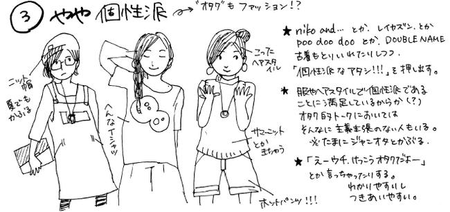 オタク女子 オタク ファッション 図解 一般人 擬態に関連した画像-06