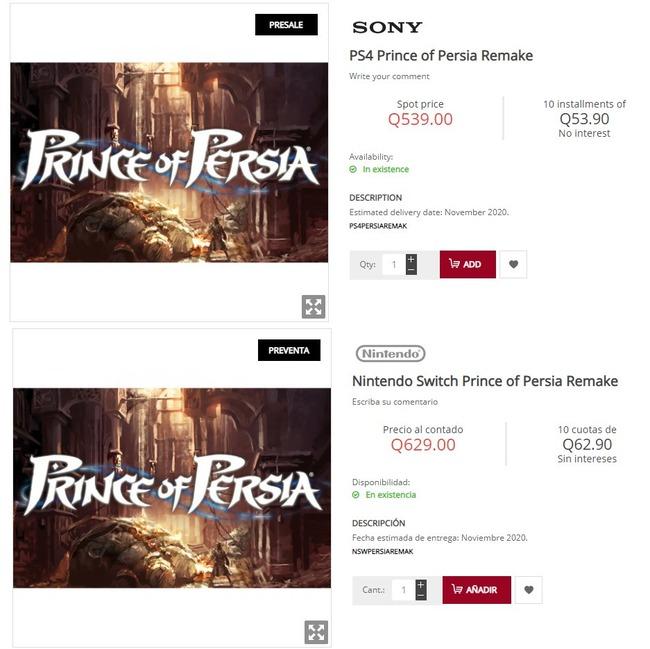 プリンス・オブ・ペルシャ リメイク グアテマラ PS4 ニンテンドースイッチに関連した画像-03