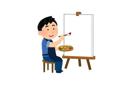 画家 日本人 塗り絵 水彩画に関連した画像-01