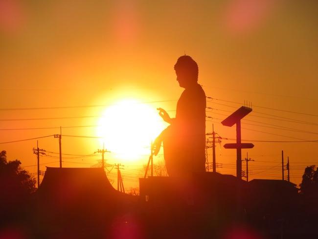 牛久大仏 波 かめはめ波 波動拳 太陽 写真に関連した画像-03