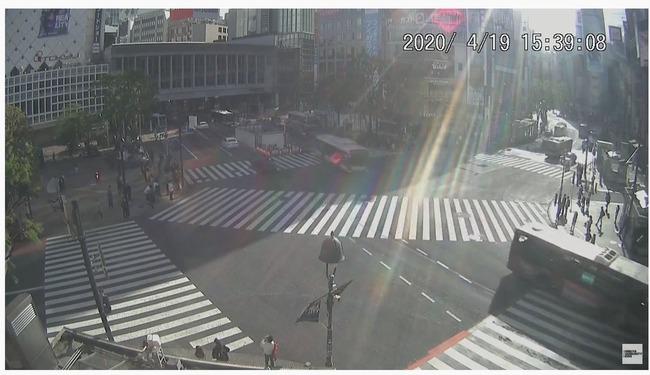 男性  渋谷 スクランブル交差点 巨大 エアーボール 移動 職務質問 職質 に関連した画像-04