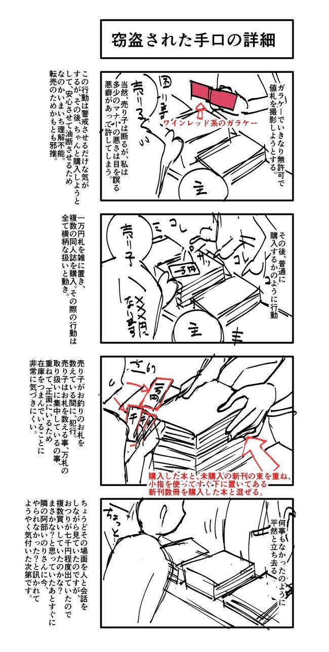 窃盗 注意喚起 同人 イベント 盗難に関連した画像-02