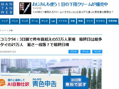 夏コミ コミケ C94 来場者 3日目 最終日に関連した画像-02
