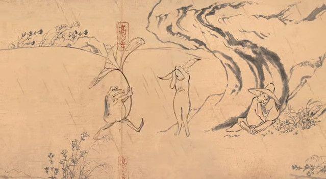 鳥獣戯画 ジブリ アニメ CM 丸紅新電力に関連した画像-06