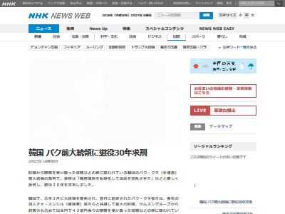 パク・クネ 懲役30年 罰金118億円に関連した画像-02