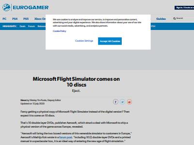 マイクロソフト フライトシミュレーター ディスク枚数 10枚 ゲーム史上最多に関連した画像-02