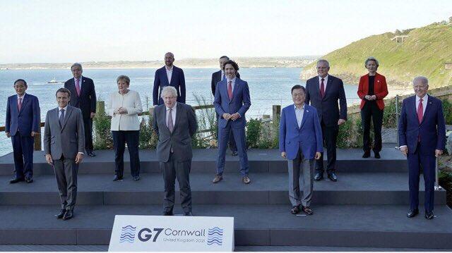 韓国 G7 南アフリカ 大統領 序列 菅義偉 ラマポーザ 文在寅に関連した画像-04
