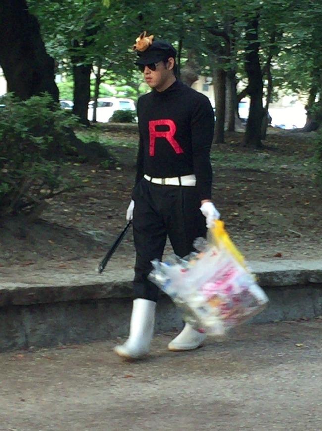 ポケモンGO 聖地 鶴舞公園 ゴミ拾い ロケット団 団員に関連した画像-02