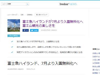 富士急ハイランド 入園料 無料に関連した画像-02