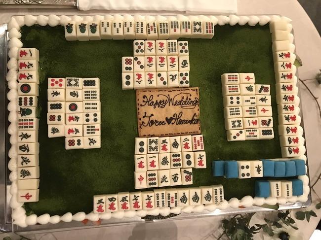 ウェディングケーキ 麻雀 牌に関連した画像-02