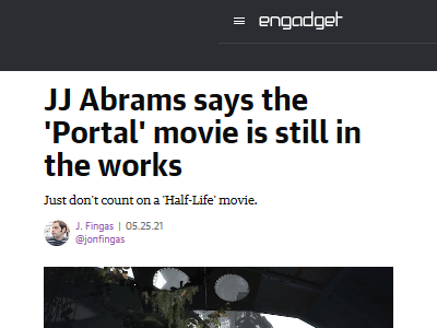 Portal ハリウッド 映画化 Valve Steamに関連した画像-02