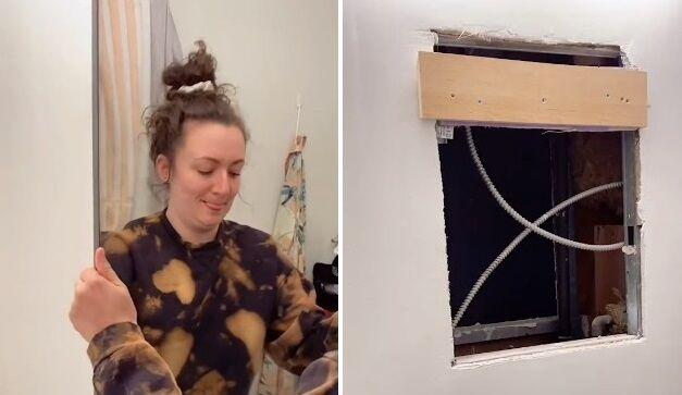 アメリカ アパート 洗面所 鏡の裏 隠し部屋 調査に関連した画像-01