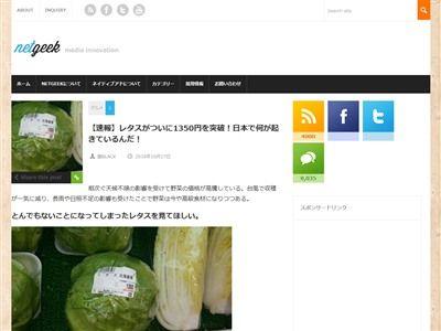 レタス 野菜 高騰 悪天候 値段 庶民 に関連した画像-02