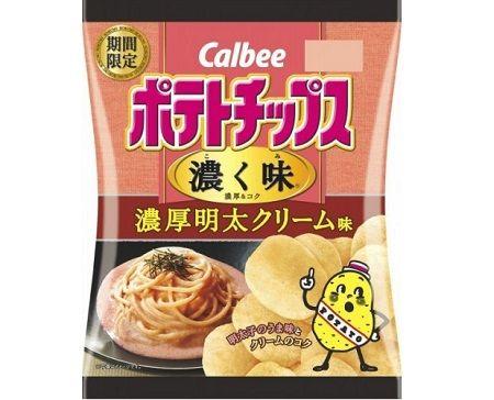 ポテトチップス カルビー 明太子 濃厚明太クリーム味に関連した画像-01