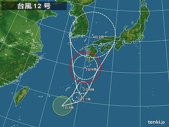 台風12号 ナムセーウン 西日本 上陸に関連した画像-03