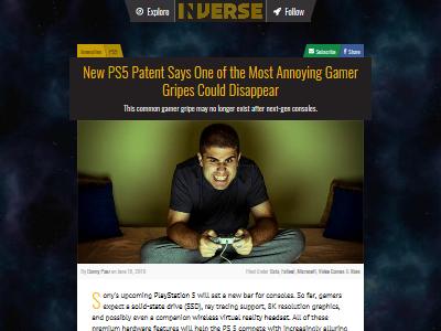 PlayStation PS5 ロード時間 ロード画面 ローディング 読み込み 特許に関連した画像-02