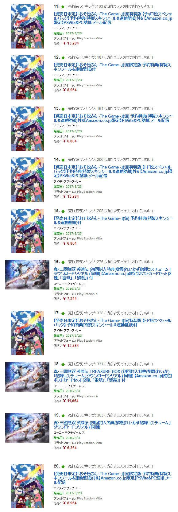 おそ松さん ゲーム ランキングに関連した画像-03