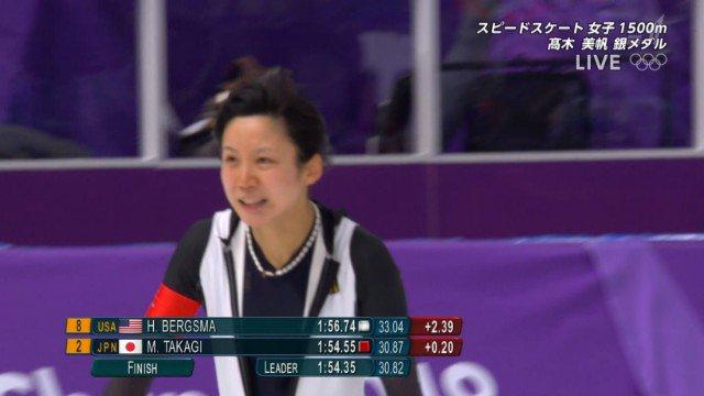 平昌五輪 スピードスケート女子1500m 高木美帆 銀メダルに関連した画像-01