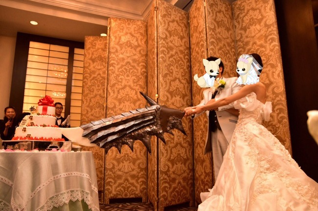 モンハン モンスターハンター 結婚式 ケーキ 入刀 ナイフ エピタフプレート 大剣に関連した画像-05