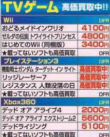 【ゲオの買取価格一覧】PS3 ソフト(た行~は行) …