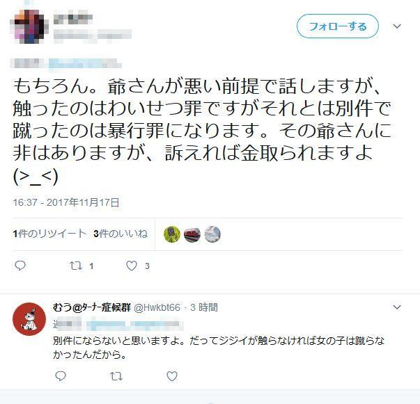 日本の闇 痴漢 老人 女子高生 回し蹴り 正当防衛 暴行罪 暴力に関連した画像-17