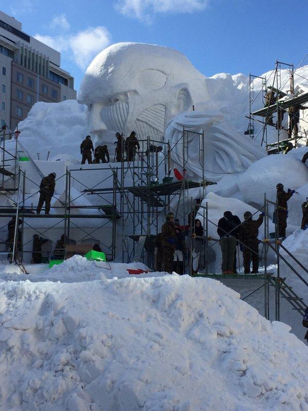 進撃の巨人 さっぽろ雪まつり 巨大雪像 ラブライブ! 札幌雪まつりに関連した画像-05