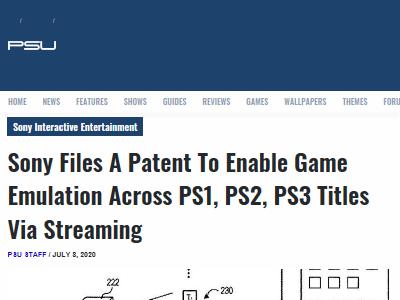 ソニー PS1 PS2 PS3 エミュレート ストリーミング PSNow 特許に関連した画像-02