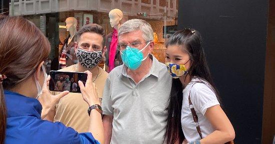 バッハ会長 IOC 東京五輪 銀座 観光に関連した画像-01
