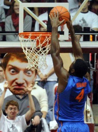 バスケ フリースロー 邪魔をする 動画 爆笑 海外 NBAに関連した画像-07