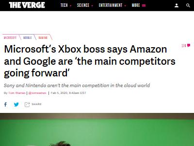 Xbox フィル・スペンサー マイクロソフト ソニー 任天堂 Amazon Googleに関連した画像-02