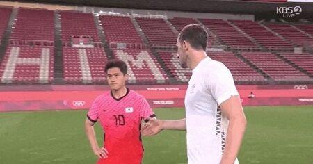韓国 ニュージーランド 握手 サッカー 東京五輪 スポーツマンシップに関連した画像-01