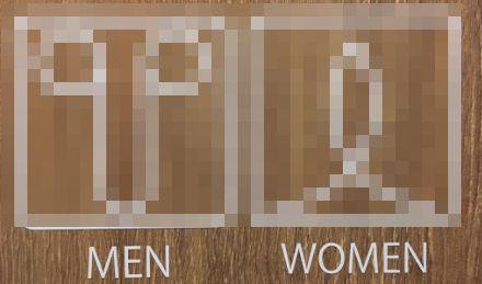 トイレ 男女 表示マークに関連した画像-01