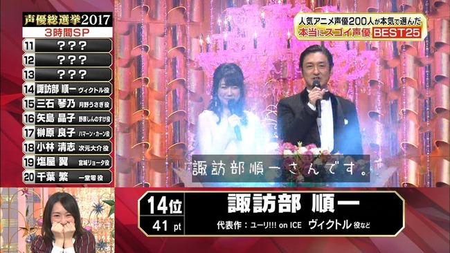 声優総選挙 諏訪部順一 ユーリに関連した画像-02