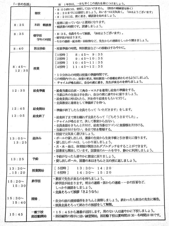 生活 新宿 中学校 ルール クソに関連した画像-02