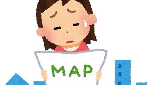 地図 方向音痴 努力 被害拡大に関連した画像-01