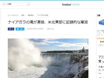 ナイアガラの滝 凍結 カナダに関連した画像-02