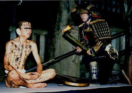 耳なし芳一(神戸市・須磨寺)武者365a