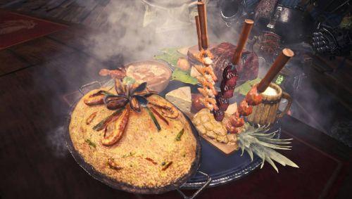 モンスターハンターワールド モンハン モンハンワールド MHW ハンター飯 料理に関連した画像-01