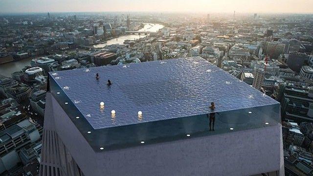イギリス ロンドン ビル 屋上 インフィニティプールに関連した画像-03
