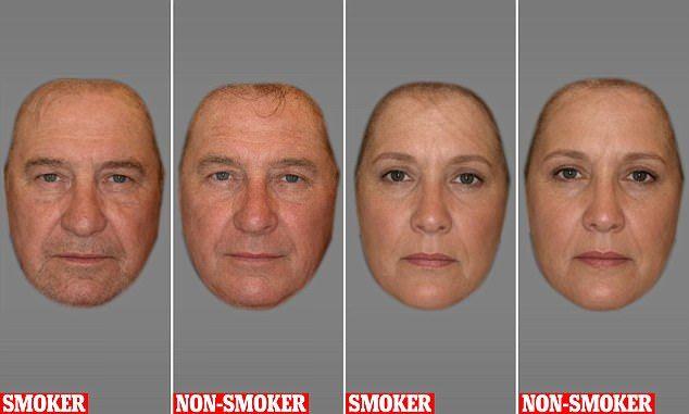タバコ 喫煙者 非喫煙者 イケメン 顔 シワ 老け顔に関連した画像-04