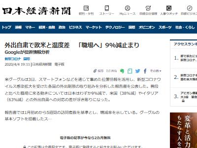 新型コロナ Google 位置情報 日本人 自粛に関連した画像-02