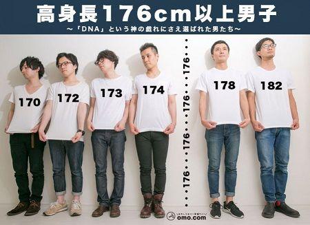 低身長イケメン 高身長フツメン アンケートに関連した画像-01
