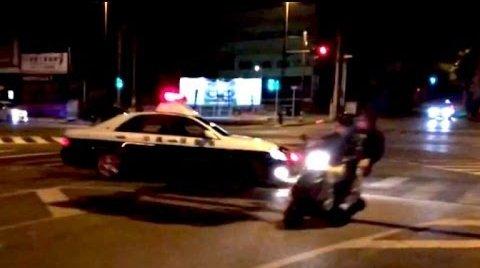 沖縄 暴走族 警察 パトカー 体当たり 動画に関連した画像-01